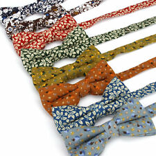 Lot 11 Pack Men's Bowtie Adjustable Bow Tie Cotton Vintage Flower Butterfly Gift