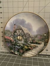 """Thomas Kinkade """"Chandler's Cottage"""" collector plate by Knowles,"""