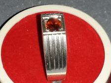 Sri Lanka Natural Red Sapphire Silver Ring