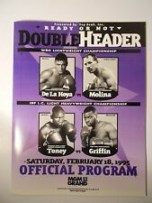 OSCAR DE LA HOYA vs. JOHN JOHN MOLINA - Official On-Site Boxing Program 02/18/95