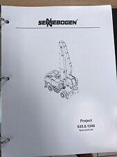 Sennebogen 835 Parts Manual Binder 835.0.1246 USPS Priority Mail