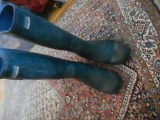 Town and Country Navy Blue Used Wellingtons Size 4 37