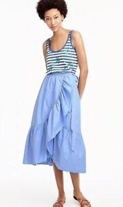 J Crew Frill Wrap Skirt