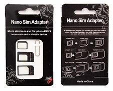 Nano Sim Karten Adapter 4 in1 Micro SIM Adapter iPhone 3 4 4S 5 5S Samsung Nokia