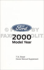 2000 Ford Powerstroke 7.3 Diesel Owner Manual F250 F350 E350 Excursion Engine
