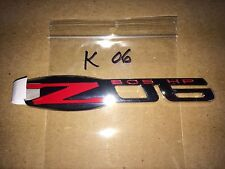Corvette Z-06 fender Emblem GM 15812355 2006,2007,2008 red/chrome 505 hp GM NEW