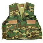 Caliber Mens Camouflage Hunting Vest Shell Pockets Green Brown Size Large. A3