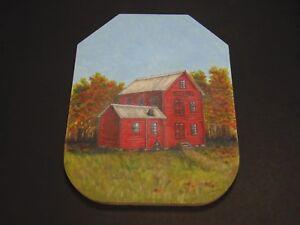 "Topaz Mill Missouri Ozarks artwork painting 15"" country primitive signed Lorita"
