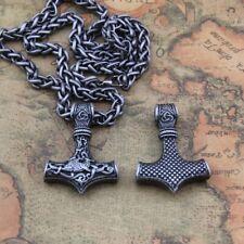 Thors Hammer Wikinger Drachen Halskette Sonne Mjölnir Vikings nordisch Anhänger