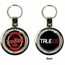 True Blood TV Show Bottle Top Cap Spinning Metal Keychain Keyring Gift Official