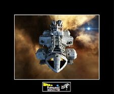 """(2) Space 1999 Eagle Transporter 8""""x10"""" Photos -11"""" x 14"""" Black Matted"""