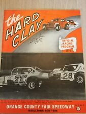 1975 Hard Clay Program Car Racing Orange County Speedway Middletown NY Auto