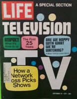 LIFE MAGAZINE SEPTEMBER  10 1971, TELEVISION..THE FIRST 25 YEARS.