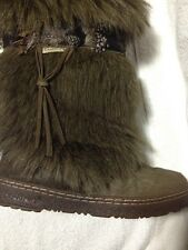 Bearpaw 1290W Kola II Mukluk Boots Size 7 Brown - Fur, Sheepskin, Wool