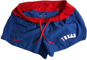 NIKE Texas RANGERS MLB Baseball Small Women's Shorts Blue/ Red -NICE!