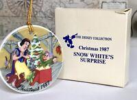 1987 Vintage The Disney Collection Christmas Snow White's Surprise Ornament