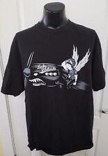 Lucky Bastards War Plane Pilot Angel Wings Anime Black T Shirt 2XL XXL Rare