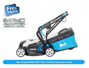 Mac Allister MLMP1200 Corded Rotary Lawnmower 1200W 33cm Cut Width