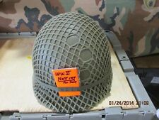 WW II vintage British olive drab helmet netting for US/British GI helmet