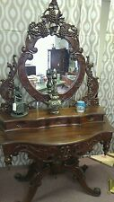 Unique, One of a kind Piece lovely wooden chateau bordeaux vanity table.