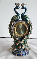 More details for vintage 'juliana treasured trinkets' peacock mini trinket box w/ clock  15512
