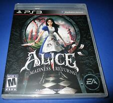 Alice Madness Returns PS3 - Factory Sealed!! -  Free Shipping!!