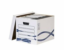 10 x Fellowes Bankers Box System - Basic Scatola Archivio Grande 33 X 32 X 42 CM
