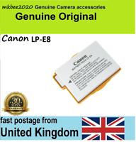 Genuine Original Canon Battery LP-E8 EOS 550D 600D 650D 700D Kiss X4 X5 X6