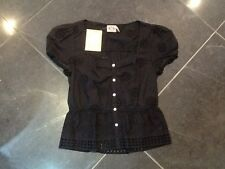 NWT Juicy Couture New & Genuine Ladies Small Black Cotton Summer Top UK 8/10