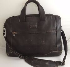 Vintage Hartmann Belting Brown Leather Attache Briefcase  Bag