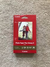"Canon PIXMA Photo Paper Plus Glossy II PP-301 4""x6"" 100 Sheets"