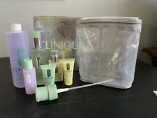 Clinique 3-Step Skin Care System Type 1-2 Dry Full Size & Travel Size 8 Pieces