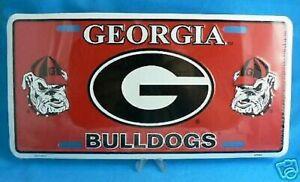 "New! Georgia Bulldogs "" DOUBLE DOG "" License Plate Ga"