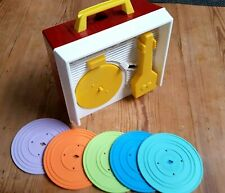 Tourne Disque Fisher Price Music Box Record Player  5 DISQUES