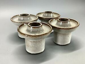 4 x Mid Century Stogo Danish Ceramic Candle Holders