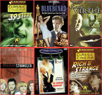Classics Thriller Film Noir DVD Lot 6-Pack / Bluebeard / 39 Steps / More