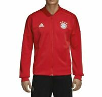 Adidas FC Bayern Munich Men's Soccer ZNE Full Zip Home Jacket Red Size M Medium