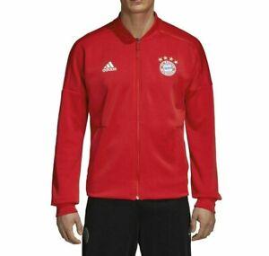 Adidas FC Bayern Munich Mens Soccer Full Zip Home Jacket Red Size M Medium