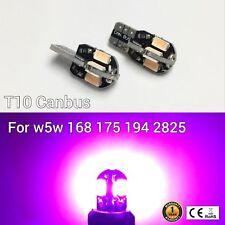 T10 W5W 194 168 2825 12961 3rd Brake Light Purple 8 Canbus LED M1 For Chevrolet