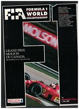 Formula 1 World Championship Program 1989 Grand Prix Molson du Canada Montreal