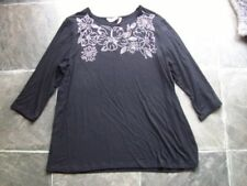 Viscose Floral Regular Size Millers Falls Company Tops for Women