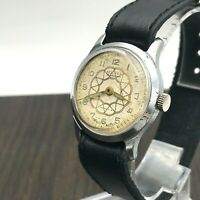 Vintage Rare MOSKVA Ornament Small USSR Men's SERVICED Casual Wristwatch 1960s