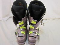 LANGE XR9 RACE SNOW SKI BOOTS  Adjustable Gray and Green Unisex 110534