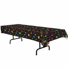 TOTALLY 80S DISCO PARTY THEME RETRO ARCADE TABLECOVER BIRTHDAY DECORATION