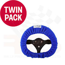TRS Steering Wheel Cover BLUE TWIN PACK - Race / Rally / Off Road / 4x4
