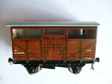 Hornby Cattle Truck D1 Wagon Brown Tin Plate B893344 Gauge OO Boxed
