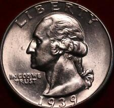 Uncirculated 1939  Philadelphia Mint Silver Washington Quarter