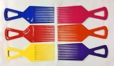 Peine Afro Desenredador Cepillo de Pelo Rosa Amarillo Azul Naranja Violeta Rojo