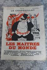 LE CRAPOUILLOT / LES MAITRES DU MONDE NUMERO SPECIAL / REVUE ANCIENNE COLLECTION