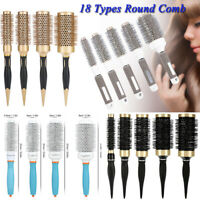 2019 Ceramic Round Barrel Hair Brush Iron Radial Comb for Curling Style Tools